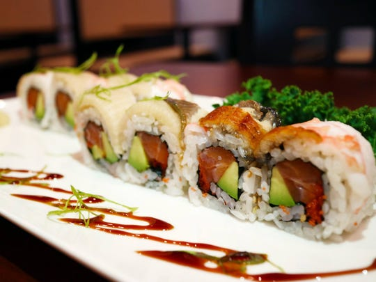 The Ocean Carnival specialty roll from Bentofu in east Fort Myers.