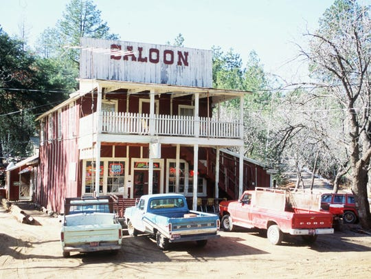 The Crown King Saloon in Crown King, Ariz., is shown