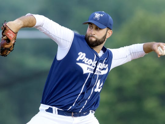East Prospect pitcher Seth Lefever delivers to a York