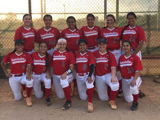 Immokalee softball 2018