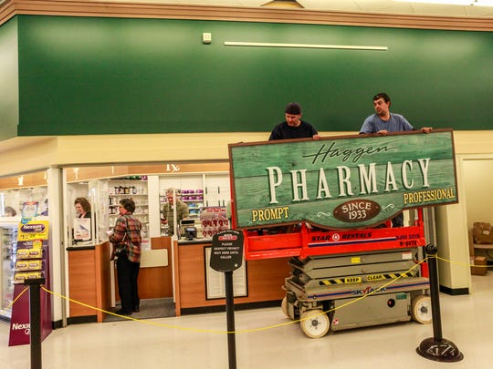 During the 40-hour store conversions, Haggen is hanging