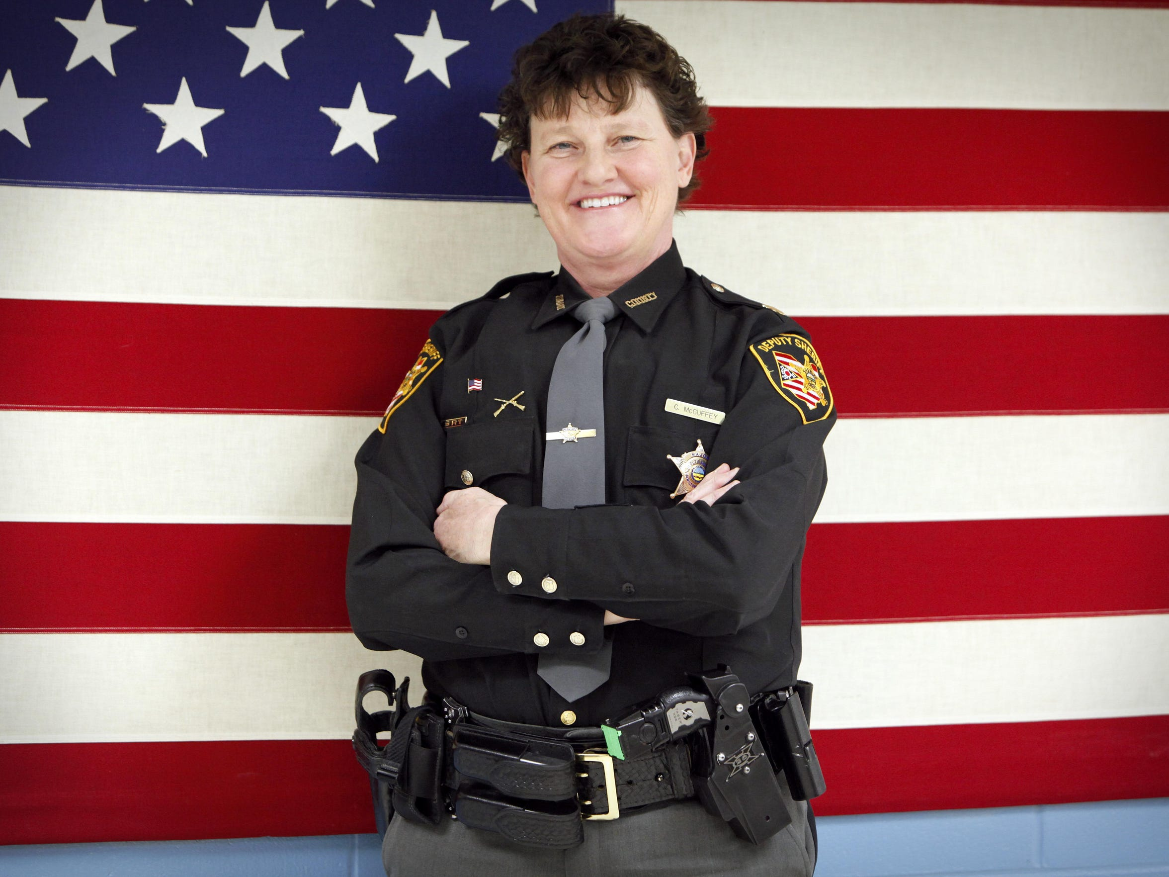 Major Charmaine McGuffey heads the corrections division