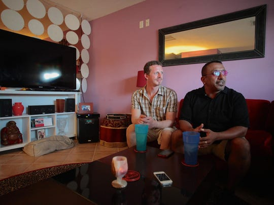 After seven years of marriage, Antonio Lopez and Paul Cochran, along with other same-sex couples, await the Supreme Court ruling on gay marriage in the coming weeks in Palm Springs.