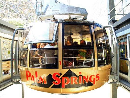 More than 2,900 riders Took the Palm Springs Aerial Tramway to the top of Mount San Jacinto on Saturday, setting a July 4 record.