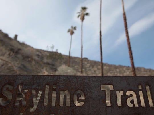 Skyline Trail sign
