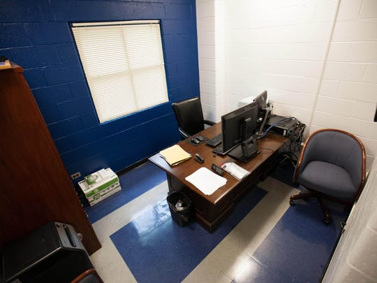 The office of now-suspended security chief Fred Way at the Baylor Women's Correctional Institute. Way was arrested for allegedly having sex with a 27-year-old female inmate in the office.