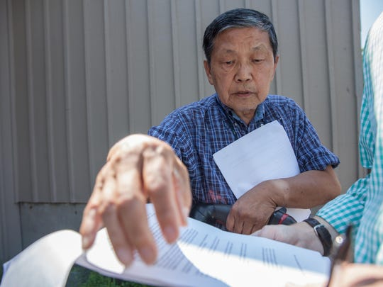 Burlington landlord Soon Kwon, shows the Burlington Free Press correspondence between himself the Office of Code Enforcement.