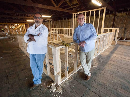 Chef Pat D'Amico (left) and general manager Adam Cofield will open Metro Pub & Grill restaurant in Middletown.