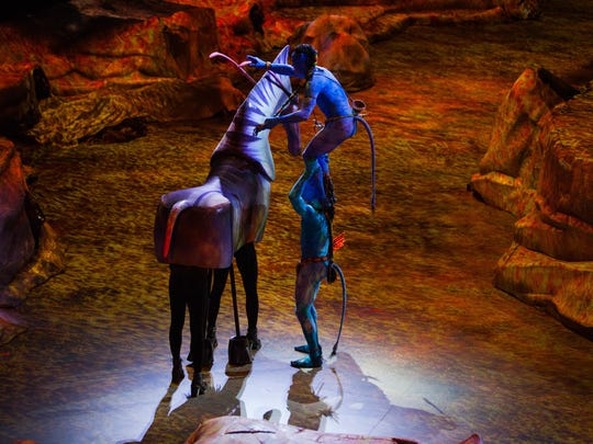 Toruk's puppets are large enough for puppeteers to fit inside to control movement.Those familiar with Avatar may recognize direhorses,viperwolves and Toruk. There also will be new creatures introduced in the show.