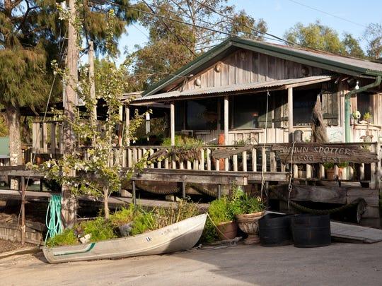 Turtles Bar sits right on the Atchafalaya River Basin.