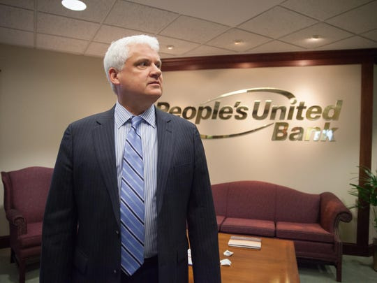 Michael Seaver, president of People's United Bank in Vermont.