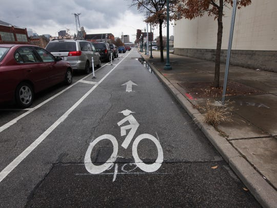 The protected bike lane along Central Parkway