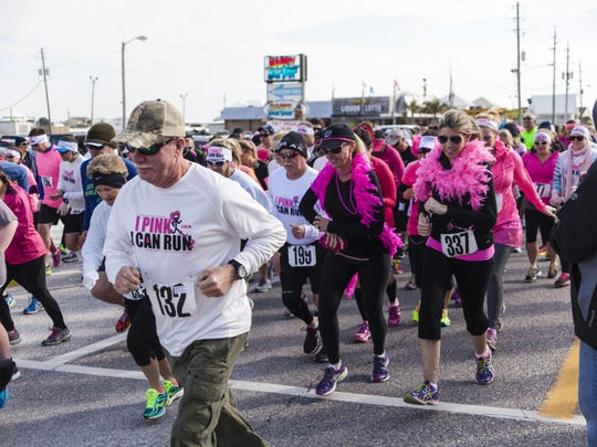 This year's I Pink I Can Run fundraiser gets underway Saturday at the Flora-Bama Lounge, Package and Oyster Bar.