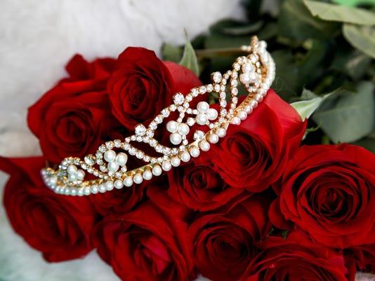 Tiara and Red Roses