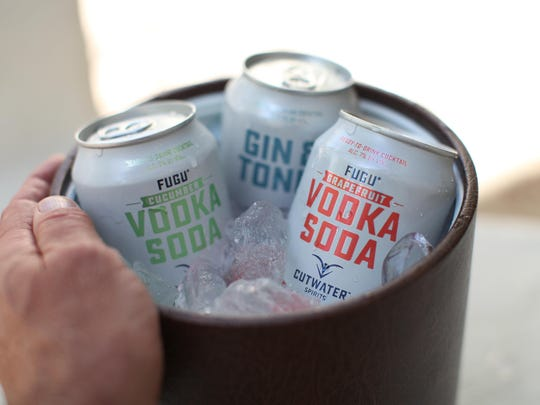 Cucumber Vodka Soda, Grapefruit Vodka Soda and the Gin & Tonic are three of the canned cocktails being poured by Cutwater Spirits at Canfest on Aug. 26 at Grand Sierra Resort and Casino. Canned cocktails are a hot spirits trend.