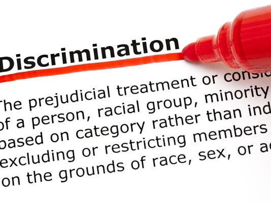 Discrimination underlined with red marker