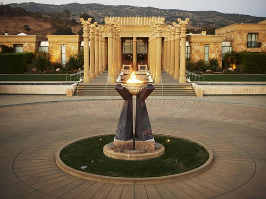 The ancient Persian city of Persepolis inspired the architecture of Darioush Winery, seen here in 2012, in the southern Napa Valley.