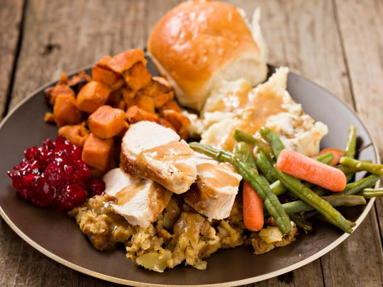 A Thanksgiving plate. Getty Images/iStockphoto