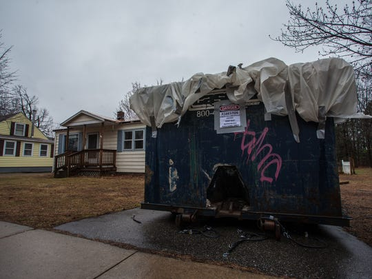 House containing asbestos on Dumont Street in South Burlington on Tuesday.