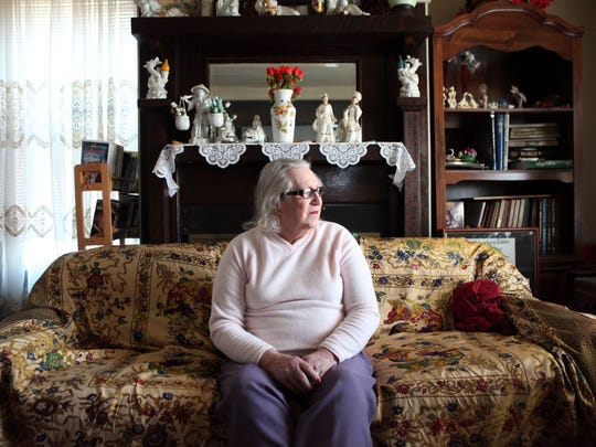 Danielle Marie Kopp, 79, poses for a portrait in her living room in Cheviot Dec. 31, 2014. She was born a man and is now a grandmother.