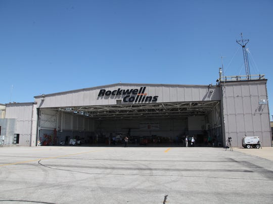 Rockwell Collins' hangar at the Eastern Iowa Airport in Cedar Rapids.