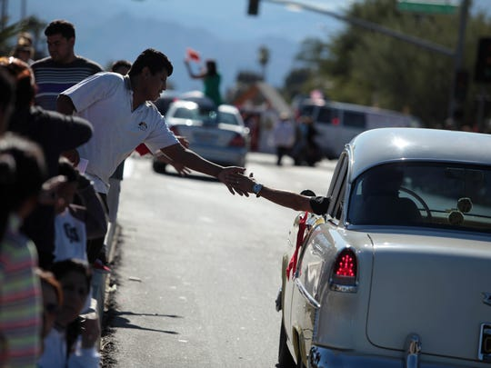 A scene from the Desert Hot Springs Holiday Parade on Saturday.
