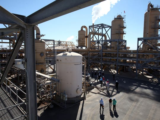 State officials visit EnergySource's Featherstone geothermal plant in Calipatria on Oct. 1, 2013.