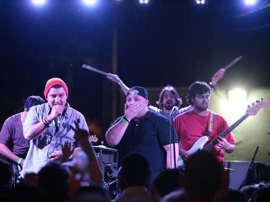 Reggae group MoZaiq perform on Wednesday at BAR in Palm Springs for a spot on the upcoming Tachevah Block Party. The reggae-based band is from La Quinta.