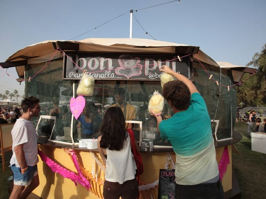 The Bon Puf yurt operated by owner Cloe Lane at the Coachella Music and Arts Festival on Saturday, April 12, 2014 in Indio.