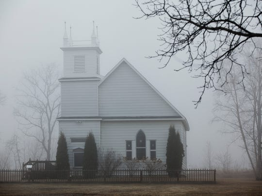 A church at the Sanilac County Historic Village and Museum pictured Thursday, April 9, 2015 in Port Sanilac. Volunteers are needed to help maintain the property.