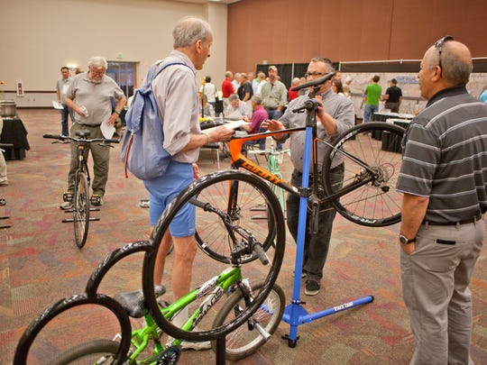 Residents learn about the different types of bicycles