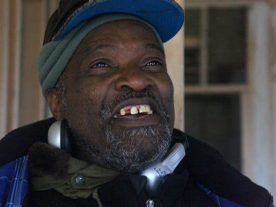 A former long-haul truck driver who lost most of his sight to macular degeneration, William Pierson looks hopefully at a $300/month apartment on Kalorama St. offered by Valley Community Support, Inc. that would allow him to graduate from homeless shelter quarters to more permanent housing.