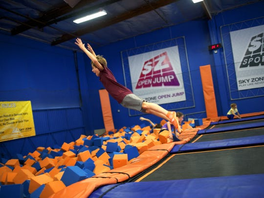 Skyzone, an indoor trampoline park, has activities for adults and children of all ages.