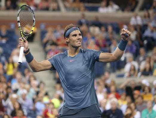 Rafael Nadal beat Philipp Kohlschreiber to advance to the U.S. Open quarterfinals.