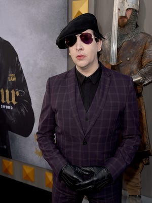 Marilyn Manson attended the Los Angeles Police Department on Friday and was released on bail, police said.