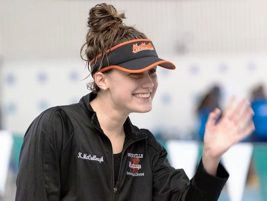 Northville's Katelyn McCullough is all smiles after