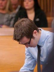 Matthew Weatherhead prepares to speak about the loss of his wife, Francesca Weatherhead.