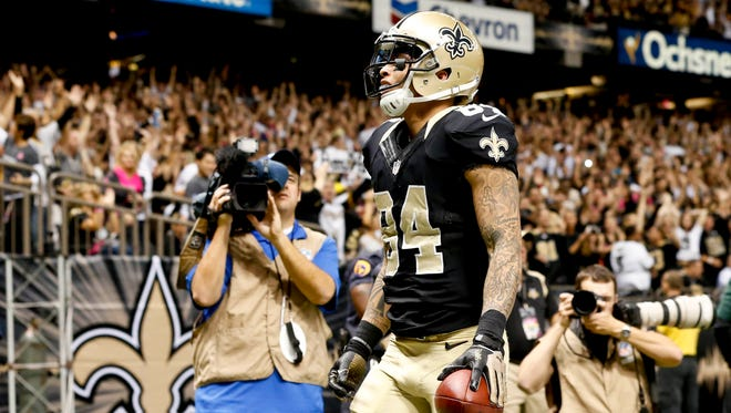 Saints wide receiver Kenny Stills celebrates after a touchdown catch against the Buffalo Bills in Week 8.