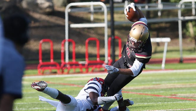 Stepinac defeated Iona 42-34 in football action at Iona Prep in New Rochelle Sept. 17, 2016.