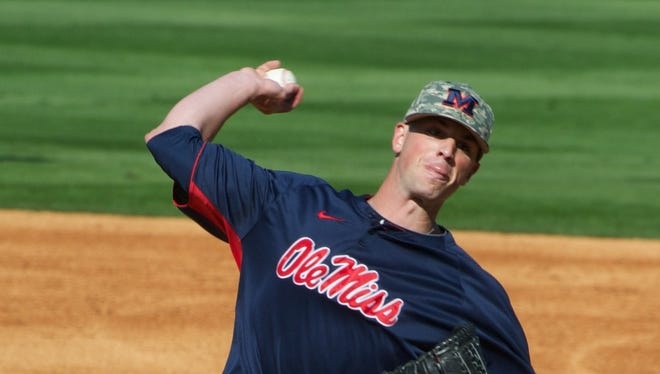 Former Ole Miss starting pitcher Mike Mayers is scheduled to start for the St. Louis Cardinals on Sunday night against the Los Angeles Dodgers.