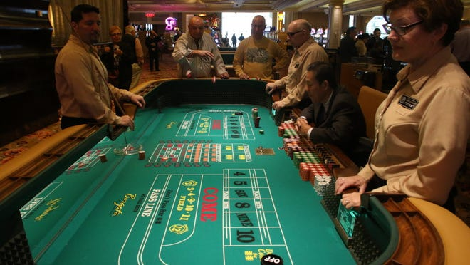 The craps table at the Borgata on March 15, 2016.