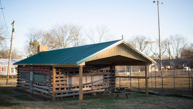 A cabin used by a Boy Scout Troop at Mt. Howard Field Park in Pleasant sits in the middle of a restoration on Jan, 27, 2020. The local troop is working to save the historic building.