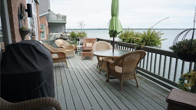Here's the view at a condominium at 21 Niagara Pier, Erie. It only took hours to get an offer on the $650,000, three-bedroom, three-and-a-half bath home with 2,462 square feet.