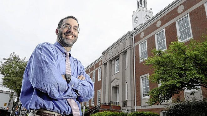 On Sept. 1, Delaware city attorney Darren Shulman will leave his position with the city, which he has held since June 2011, for the same position in Upper Arlington. He is pictured Aug. 11 outside Delaware City Hall.