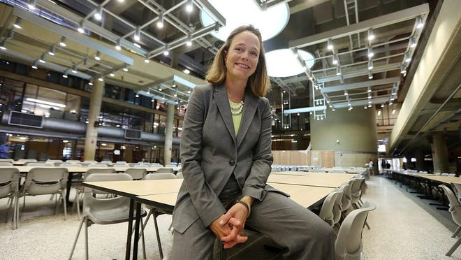 CCRI President Meghan Hughes defended her new hires in a letter to House lawmakers Wednesday, and said she does expect most of them to move to Rhode Island.