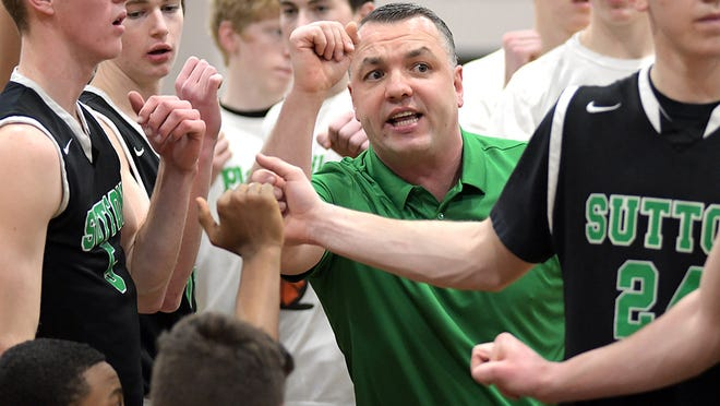 Sutton boys' basketball coach Andy Niedzwiecki was honored as the Division 3 coach of the year by the MBCA.