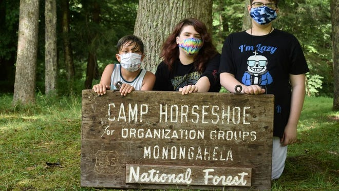 Rylan Newhouse, Sidney Donnelly, and Kane Donnelly attended a week of the Governor's Youth Opportunity and Adventure Camp at Camp Horseshoe.