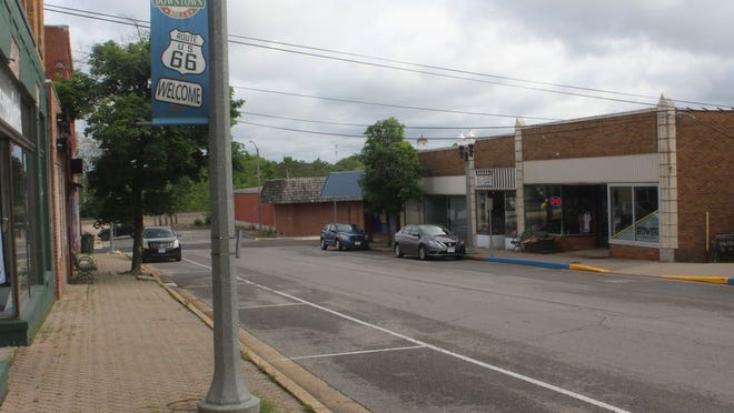 Downtown Rolla on May 20 as businesses start the process of reopening.