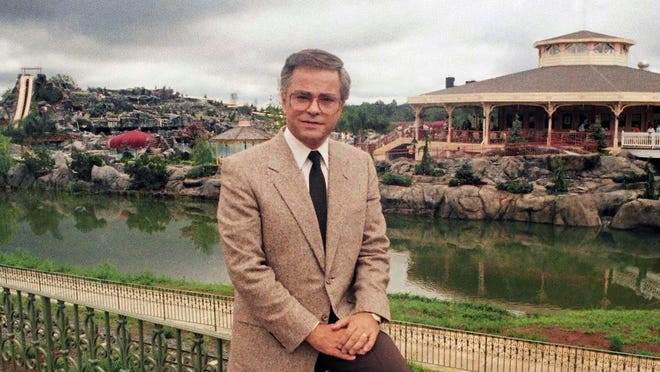 FILE - In this March 19, 1987, file photo, Television evangelist Jim Bakker poses in Columbia, S.C. Missouri-based TV pastor Jim Bakker, in a court filing on Monday, May 4, 2020, is asking a judge to dismiss a state lawsuit accusing him of falsely claiming that a health supplement could cure the coronavirus. The lawsuit said Bakker and a guest made the cure claim during a program on Feb. 12.
