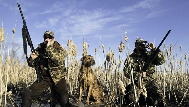 MDC has modified the 2020-2021 waterfowl managed hunt process to assure the safety of hunters and staff during the COVID-19 pandemic. Shown are waterfowl hunters at Eagle Bluffs Conservation Area.